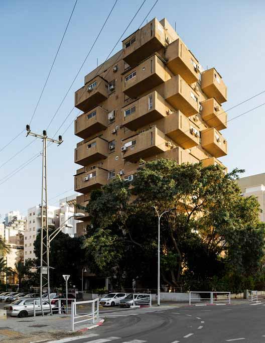 Жилой дом «Drawer Tower» - Моше Лупенфельд и Гиора Гамерман (1962-1967). Изображение © Стефано Перего