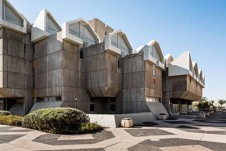 Библиотека Залмана Аранне в университете Бен-Гуриона в Негеве - Майкл Надлер и Шуламит Надлер (1968–1971). Изображение © Стефано Перего