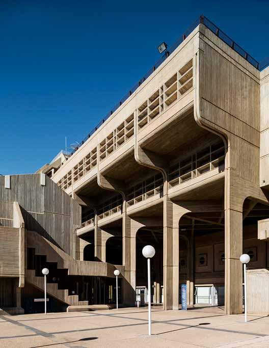 Гуманитарные и социальные науки Здание Университета Бен-Гуриона в Негеве - Рафи Райфер, Амнон Нив и Натан Маген (1968–1971). Изображение © Стефано Перего