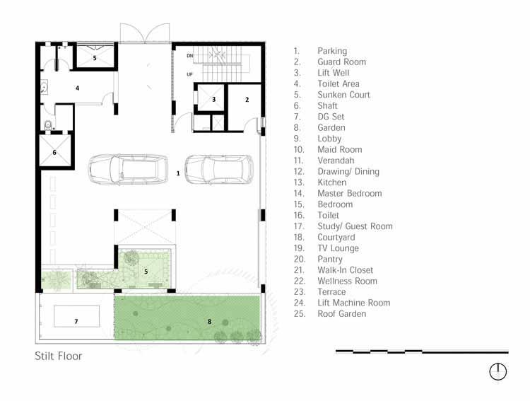 План этажа на сваях