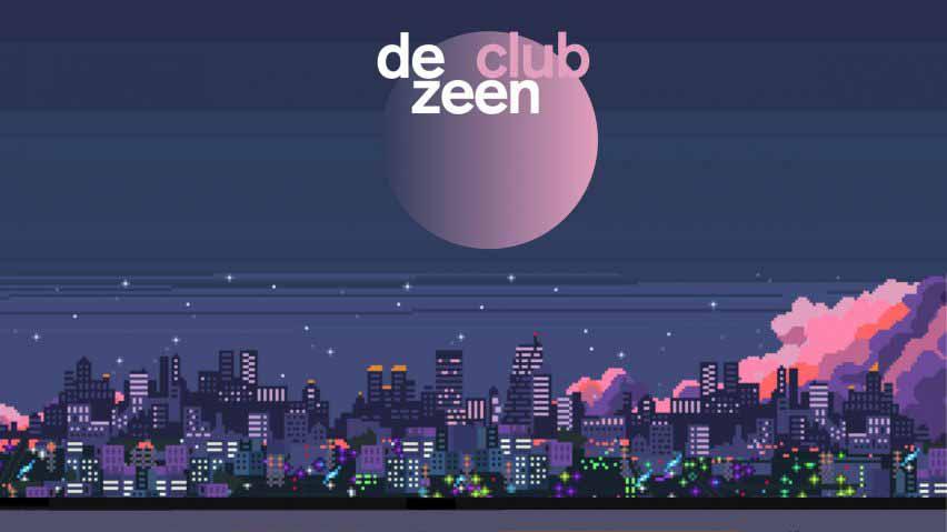 Баннер Dezeen Club, представленный в Dezeen Events Guide, апрель 2021 г.
