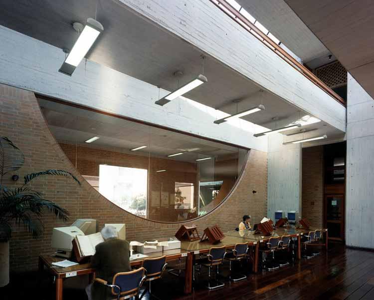 Читальный зал Главного архива нации. Изображение © Энрике Гусман