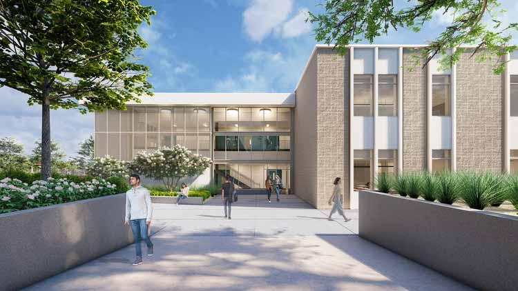 Средняя школа Кеннеди Мелиссы Хименес. Изображение предоставлено HMC Architects