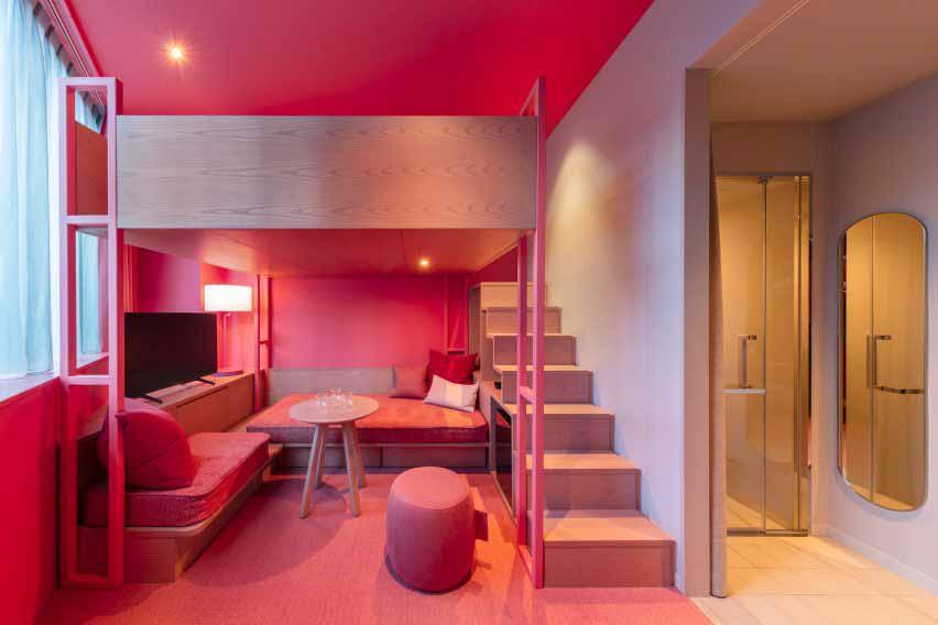 Красочные двухцветные спальни