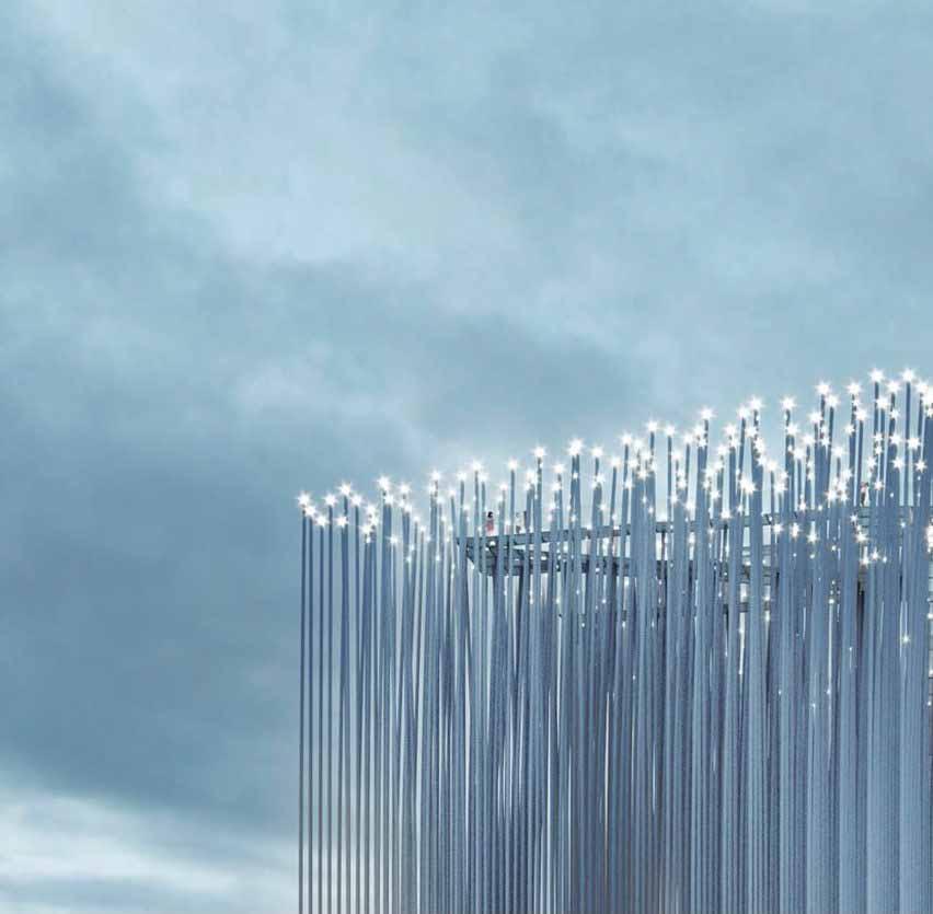 Ночной вид на смотровую площадку от SMAR Architecture Studio