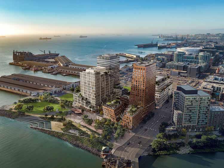 Строительство башни, вдохновленной геологией, MVRDV в Сан-Франциско, © Binyan Studios