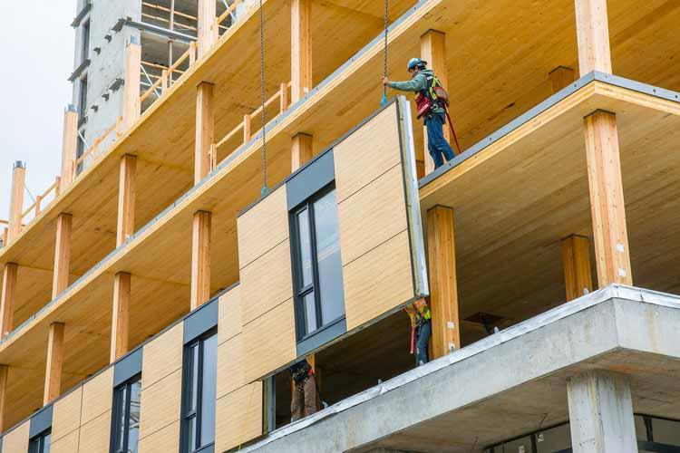 © Brock Commons Tallwood House, Университет Британской Колумбии, студенческое общежитие. Предоставлено naturallywood.com