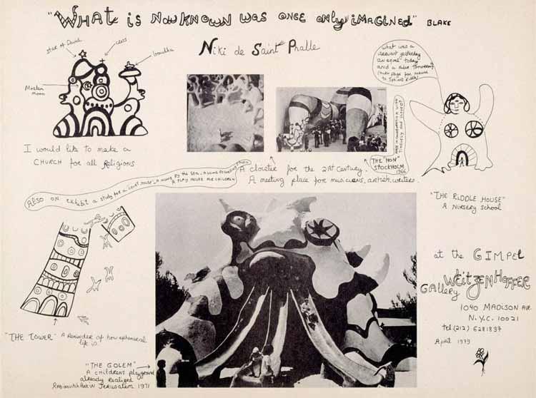 Ники де Сен-Фалль. «То, что известно сейчас, когда-то было только воображаемым». 1979. Офсетная печать. Изображение предоставлено благотворительным фондом Niki Charitable Art Foundation 2020. © Архивы NCAF