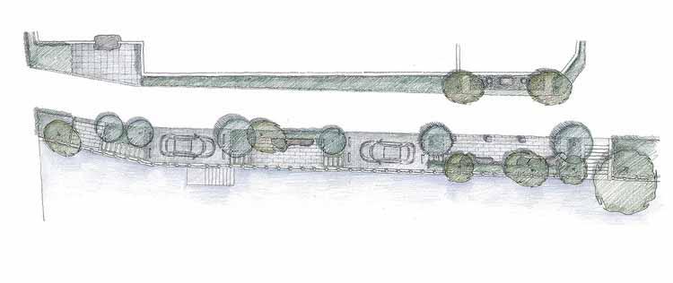 план на берегу реки