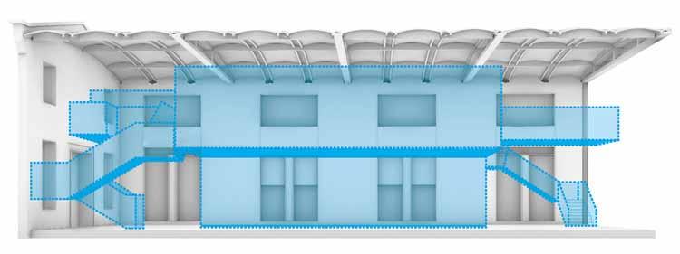 Концепция «Коробка в коробке». Изображение предоставлено LYCS Architecture