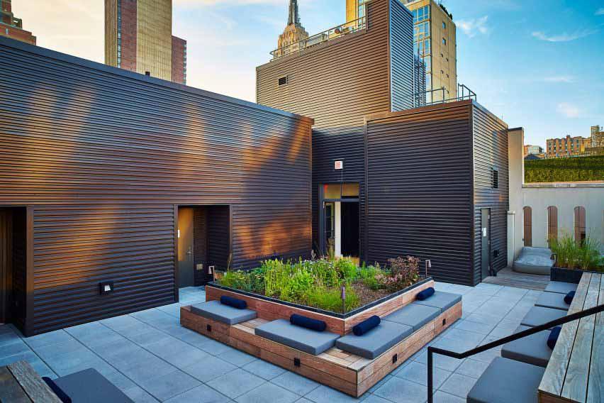 Сад на крыше Пита Удольфа в Нью-Йорке