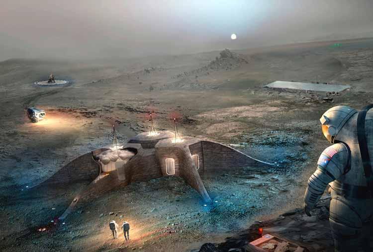 МАРС ХАБИТАТ / LavaHive. Изображение Кортесии де НАСА
