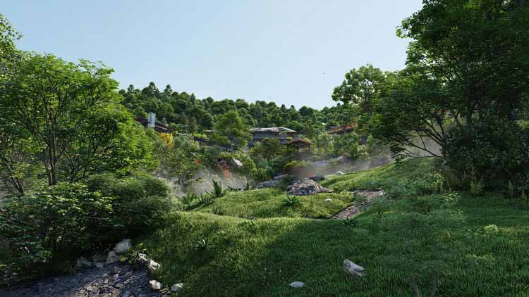 Дома на холмах, модель предоставлена Beehive & King Crab.