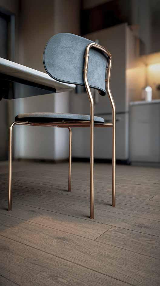 Стул на деревянном полу, визуализированный в Lumion 11 компанией 3D Fernandes.