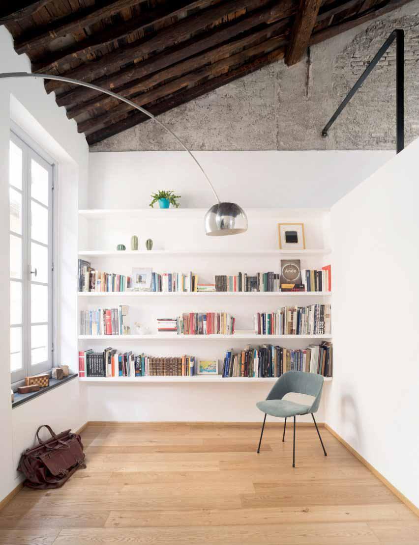 Библиотека в Доме морского волка в Генуе Доди Мосс