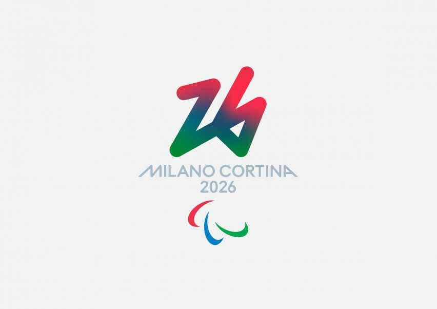 Логотип паралимпийских зимних Олимпийских игр 2026 года имеет красный, синий и зеленый цвета.