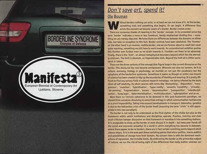 Manifesta 3 2000. Изображение предоставлено Оле Боуманом