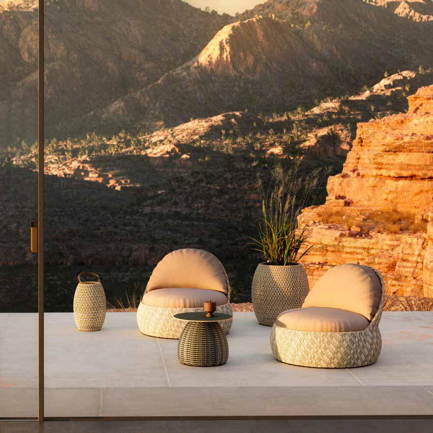 Приставные столики из белых грибов от Lorenza Bozzoli для Dedon