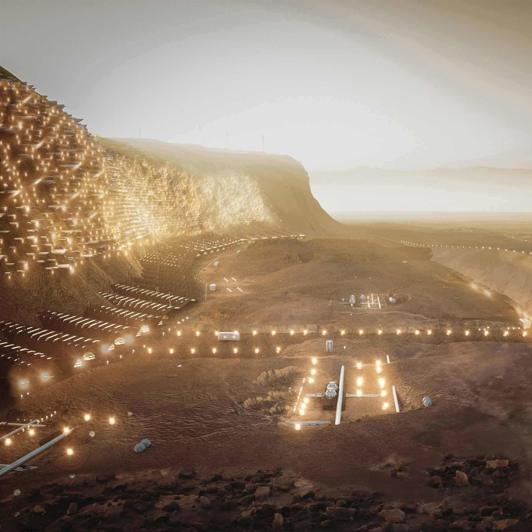 На этой неделе Абибо представил Марс-город для четверти миллиона человек
