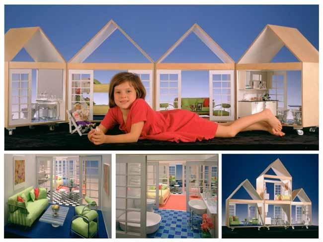 В подростковом возрасте Марион Вайс разработала набор кукольных домиков. Изображение © Jock Pottle / Esto