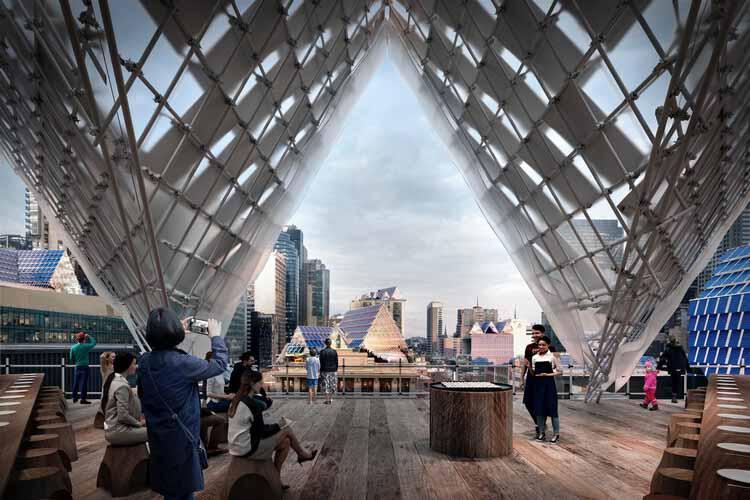Солнечная архитектура от John Wardle Architects. Изображение предоставлено Finding Infinity