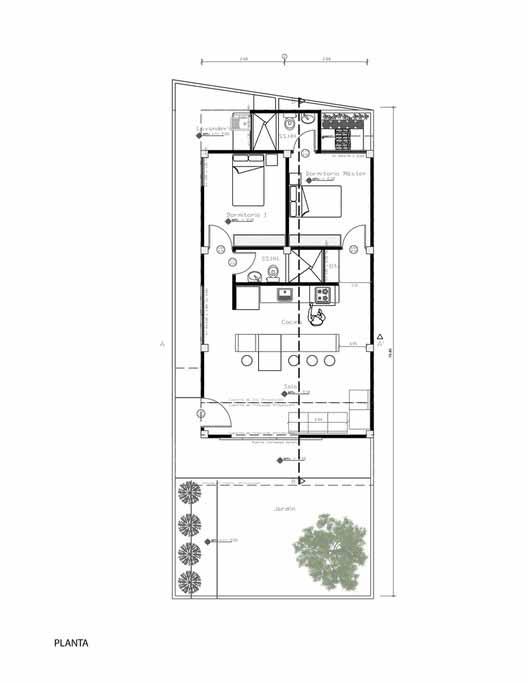 Planta - Casa para alguém como eu / Natura Futura Arquitectura