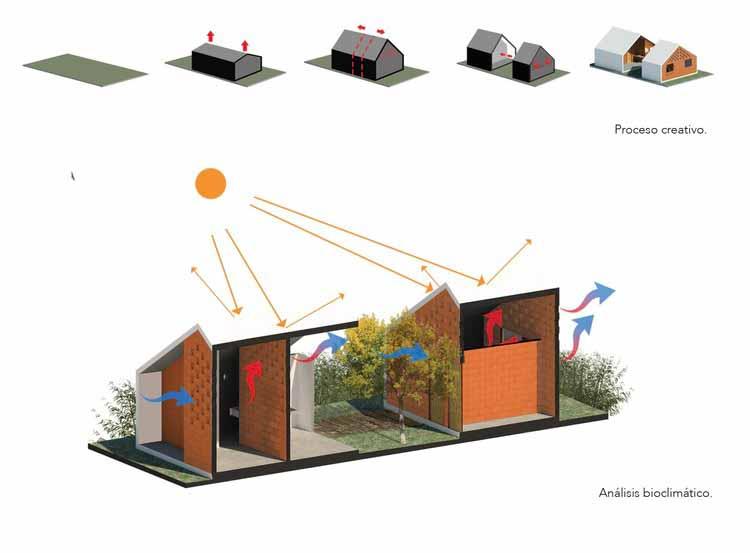 Esquema - Habitação Social Pinotepa Nacional / HDA: Hector Delmar Arquitectura + M + N Diseño
