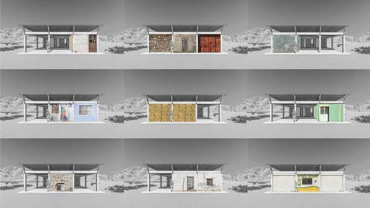 Esquema - Habitação village de autoprodução assistida / JC Arquitectura + Kiltro Polaris Arquitectura