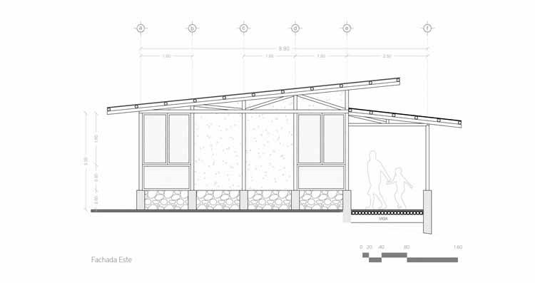 Corte - Produção de Habitação Social: Exercício I / Pobladores de Tepetzintan + Comunal Taller de Arquitectura
