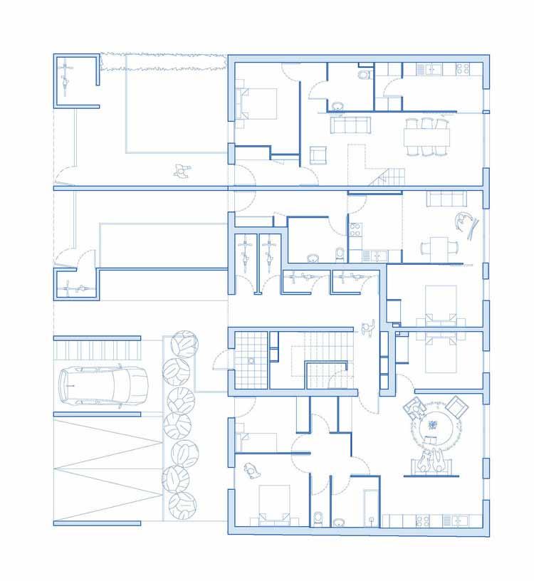 Планта - 6 Unidades de Habitação Social / Atelier 56S