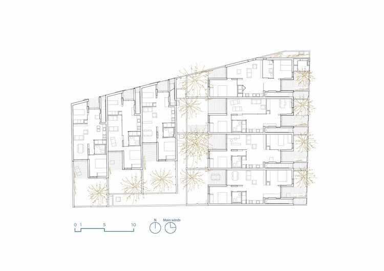 Planta - Conjunto Habitacional Life Reusing Posidonia / IBAVI (Instituto Balear de la Vivienda)