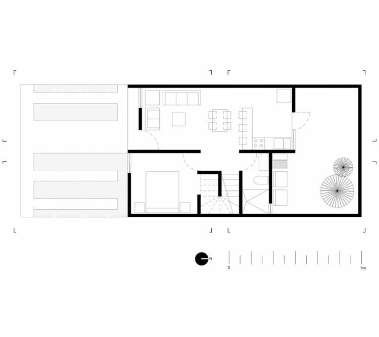 Планта - Casa San Ignacio / IX2 Arquitectura