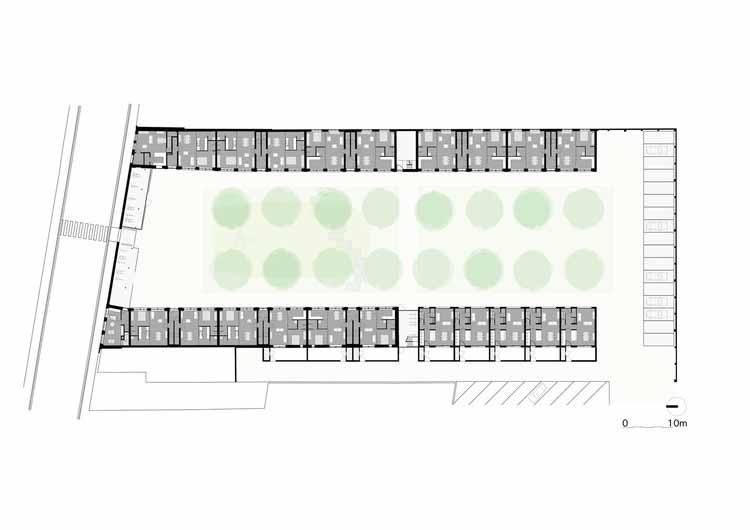 Planta - Renovação de Habitações Sociais em Izegem / Архитектор Ливен Дежаегере