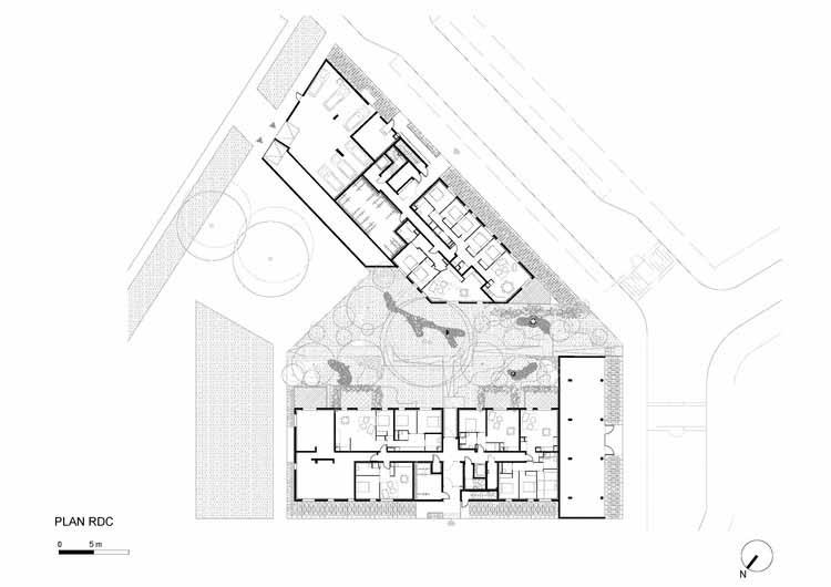 Planta - Edifício de Apartamentos L'Equatoria / Christophe Rousselle Architecte