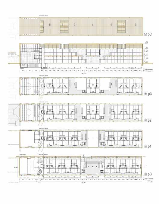 Планы - 46 Viviendas en antigua fábrica Fabra & Coats / Roldán + Berengué