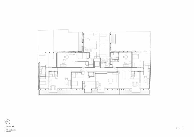 Планта - 35 единиц социального жилья / передвижное архитектурное бюро
