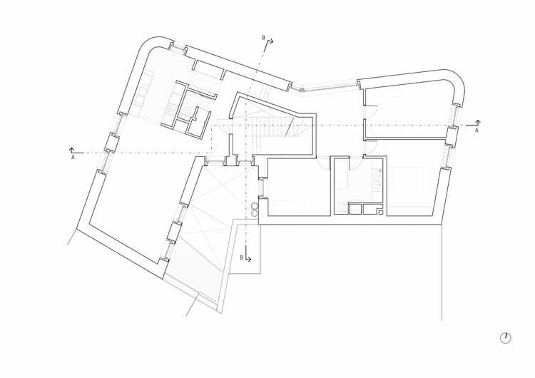 Planta - 5 Unidades de Habitação Social em Navez / MSA / V +