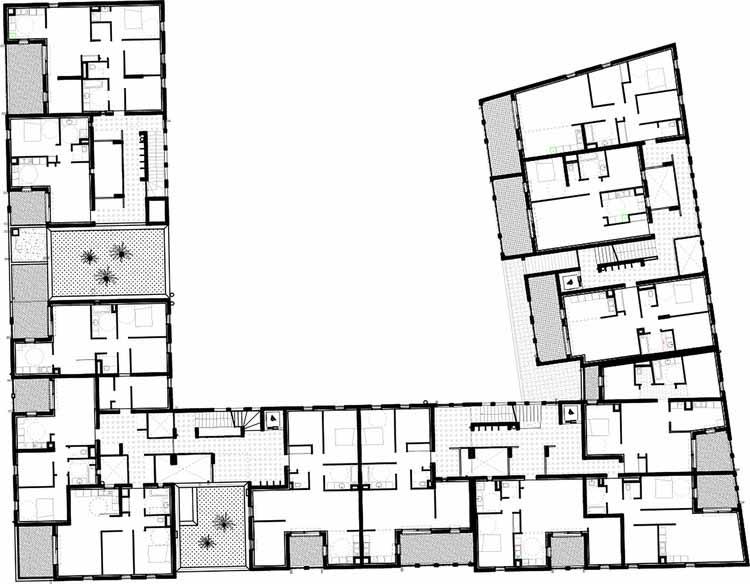 Планта - 58 Habitações Sociais em Antibes / Atelier PIROLLET architectes