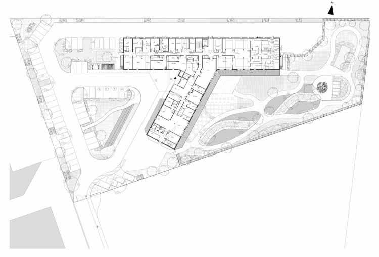 Планта - Casa de Repouso Morangis / VOUS ETES ICI Architectes
