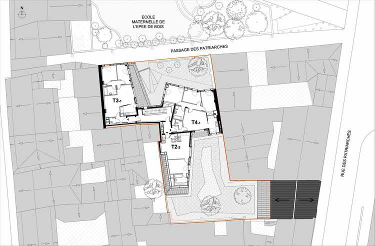 Planta - Habitação Social / Vous Êtes Ici Architectes
