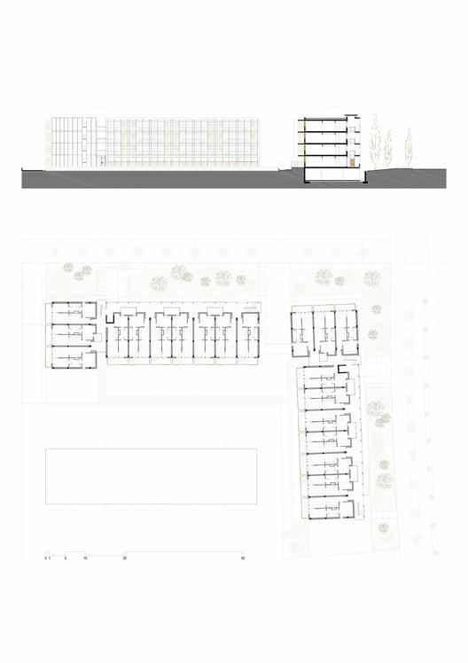 Planta - 80 Habitações de Proteção Oficial в Салоу / Тони Жиронес