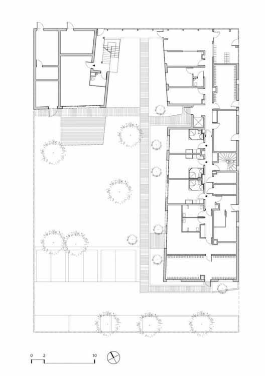 Planta - Habitação de Interesse Social / PetitDidier Prioux Architectes