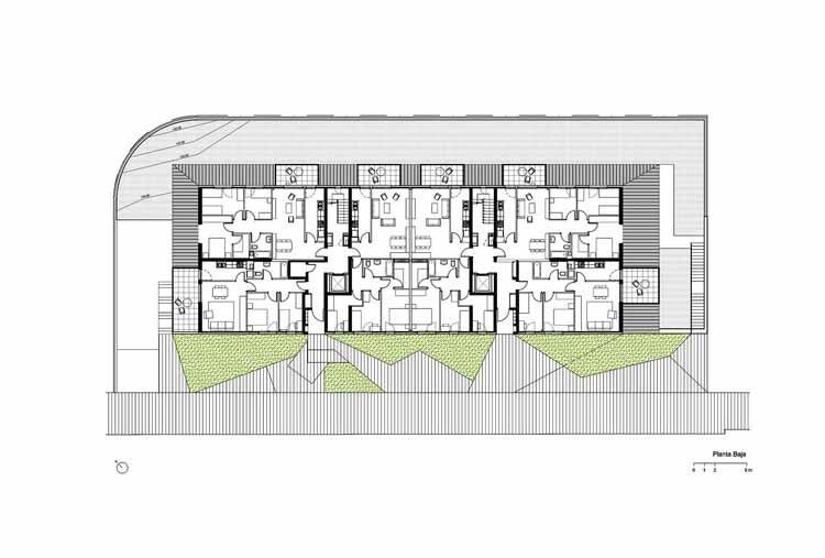 Планта - Conjunto Habitacional em Gavá / Pich-Aguilera Architects