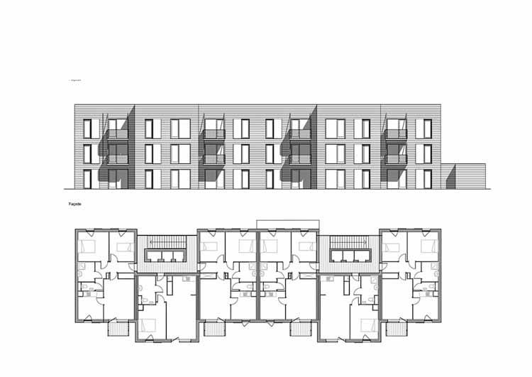 Planta - 60 Apartamentos de Habitação Social em Rive-De-Gier / Tectoniques Architects