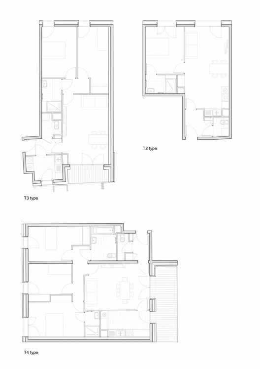 Планта - Habitação Social 38 / Avenier Cornejo Architectes