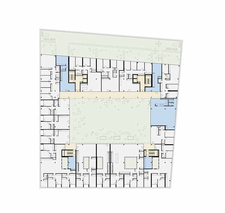Планта - Жилой дом CODHA / Архитектура Dreier Frenzel + Коммуникации