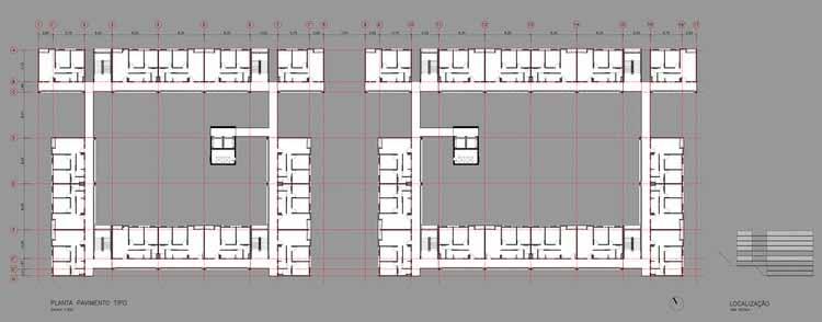 Planta - Residencial Corruíras / Boldarini Arquitetura e Urbanismo
