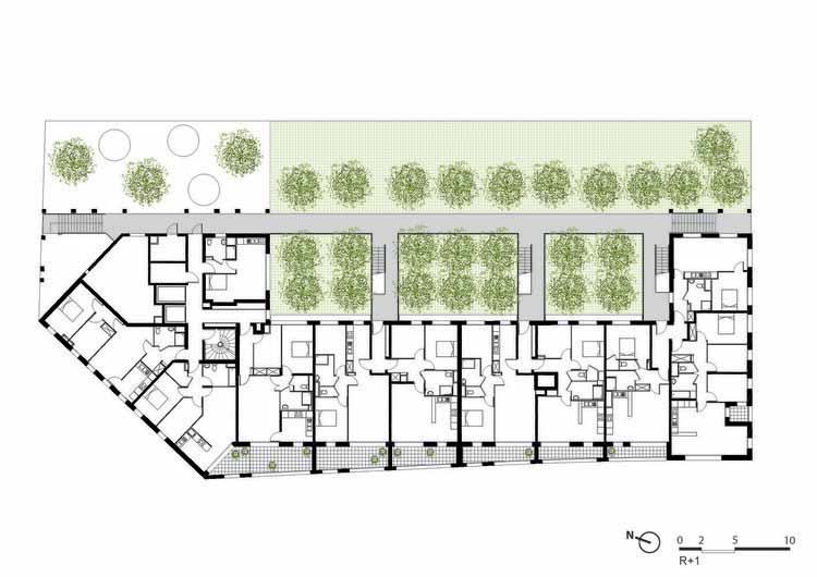 Planta - Habitação Social / Atelier du Pont
