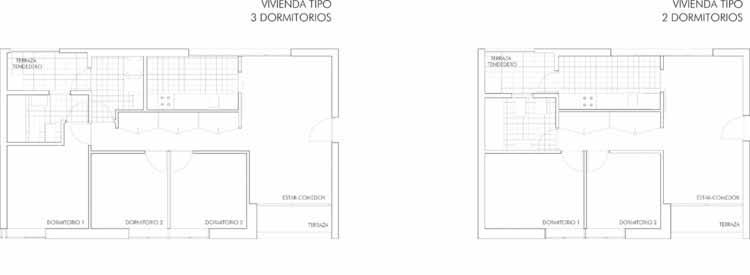 Planta - Habitação Social em Vallecas / Vázquez Consuegra
