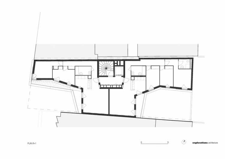Planta - Edifício Residencial Rue Du Chateau Des Rentiers / Исследования архитектуры